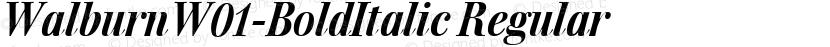 WalburnW01-BoldItalic Regular Preview Image