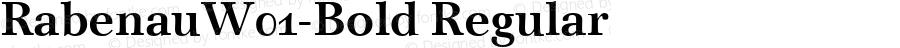 RabenauW01-Bold Regular Version 1.00