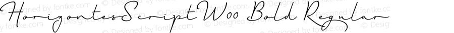 HorizontesScriptW00-Bold Regular Version 1.00