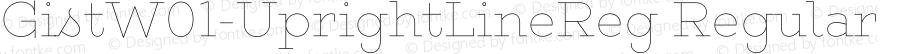 GistW01-UprightLineReg Regular Version 1.00