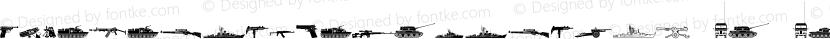FTMilitaryDingbatsW95-Rg Regular Preview Image