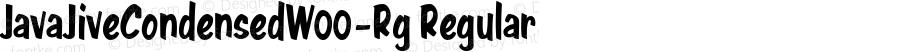 JavaJiveCondensedW00-Rg Regular Version 1.00