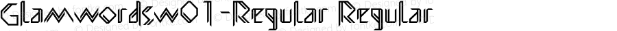 GlamwordsW01-Regular Regular Version 1.00