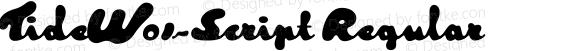 TideW01-Script Regular Version 1.1