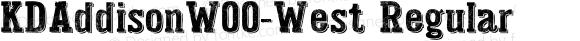 KDAddisonW00-West Regular Version 1.00