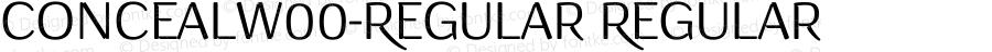 ConcealW00-Regular Regular Version 1.00