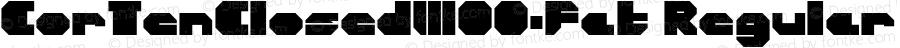 CorTenClosedW00-Fat Regular Version 1.00