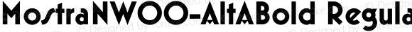 MostraNW00-AltABold Regular Version 1.00