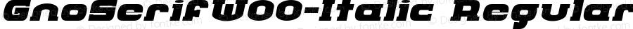 GnoSerifW00-Italic Regular Version 1.00