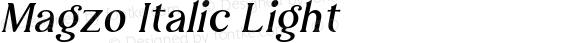 Magzo Italic Light