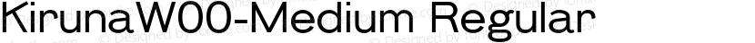 KirunaW00-Medium Regular Preview Image