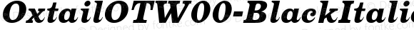 OxtailOTW00-BlackItalic Regular Version 3.10