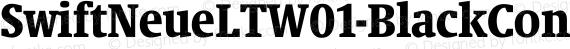 SwiftNeueLTW01-BlackCond Regular preview image