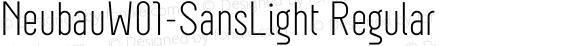 NeubauW01-SansLight Regular Version 1.00