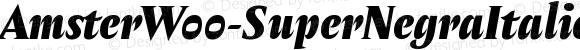 AmsterW00-SuperNegraItalica Regular Version 1.00