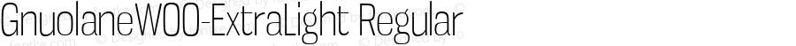 GnuolaneW00-ExtraLight Regular Version 2.20