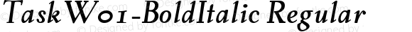 TaskW01-BoldItalic Regular Version 1.00