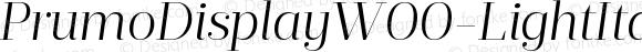 PrumoDisplayW00-LightItalic Regular Version 1.10
