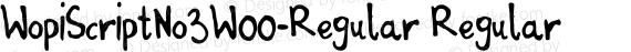 WopiScriptNo3W00-Regular Regular preview image