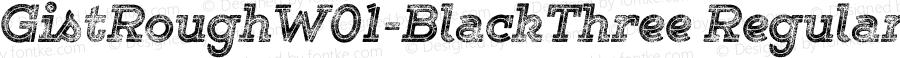 GistRoughW01-BlackThree Regular Version 1.00
