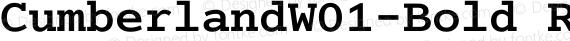 CumberlandW01-Bold Regular preview image