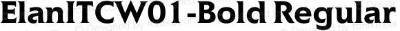 ElanITCW01-Bold Regular Version 1.01