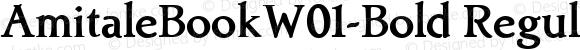 AmitaleBookW01-Bold Regular Version 1.00