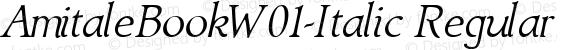 AmitaleBookW01-Italic Regular Version 1.00