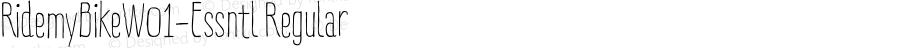 RidemyBikeW01-Essntl Regular Version 1.00