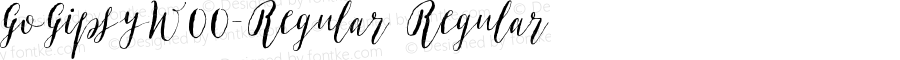 GoGipsyW00-Regular Regular Version 1.00
