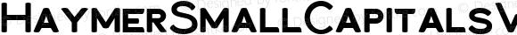HaymerSmallCapitalsW01-Bold Regular Version 1.00
