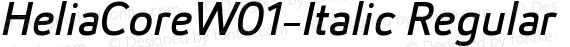 HeliaCoreW01-Italic Regular preview image