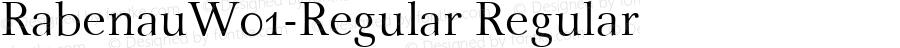 RabenauW01-Regular Regular Version 1.00