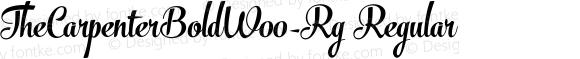 TheCarpenterBoldW00-Rg Regular Version 1.00
