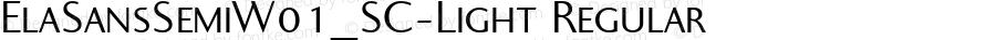 ElaSansSemiW01_SC-Light Regular Version 1.00