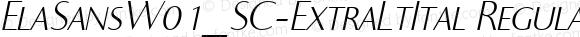 ElaSansW01_SC-ExtraLtItal Regular Version 1.00