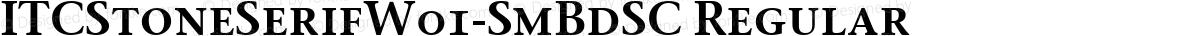 ITCStoneSerifW01-SmBdSC Regular