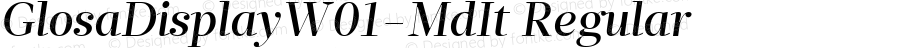 GlosaDisplayW01-MdIt Regular Version 1.00