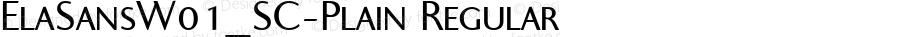 ElaSansW01_SC-Plain Regular Version 1.00