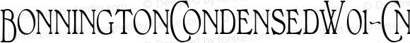 BonningtonCondensedW01-CnRg Regular Version 1.00