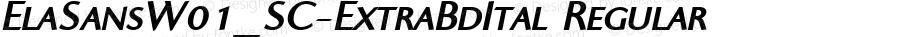 ElaSansW01_SC-ExtraBdItal Regular Version 1.00