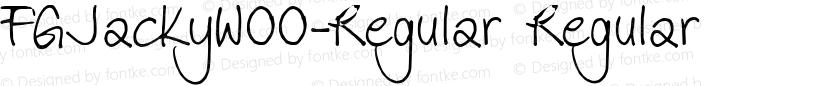 FGJackyW00-Regular Regular Preview Image
