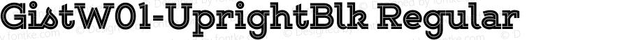 GistW01-UprightBlk Regular Version 1.00