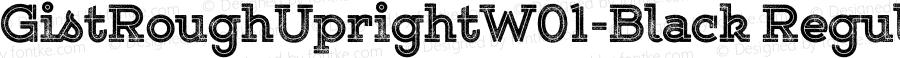 GistRoughUprightW01-Black Regular Version 1.00