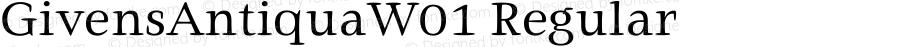 GivensAntiquaW01 Regular Version 1.01