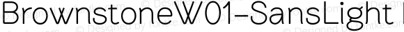 BrownstoneW01-SansLight Regular Version 1.00