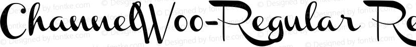 ChannelW00-Regular Regular Preview Image