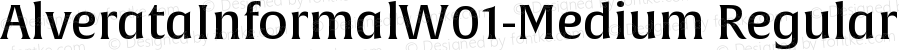 AlverataInformalW01-Medium Regular Version 1.00