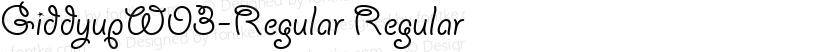 GiddyupW03-Regular Regular Preview Image