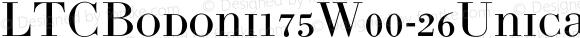 LTCBodoni175W00-26Unicase Regular Version 1.00